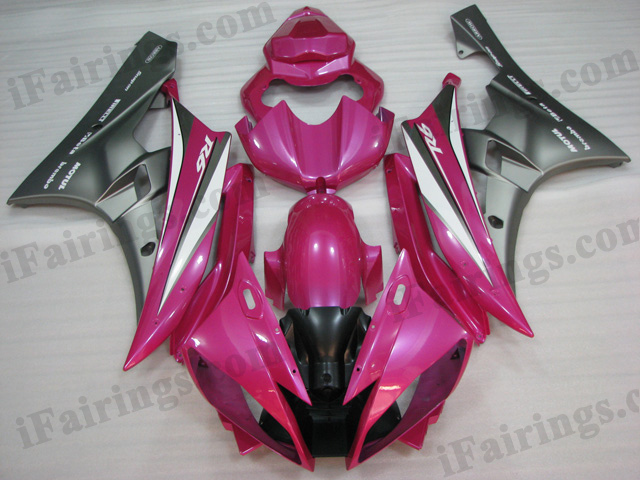 2006 2007 Suzuki GSXR600/750 pink and grey fairing kits.
