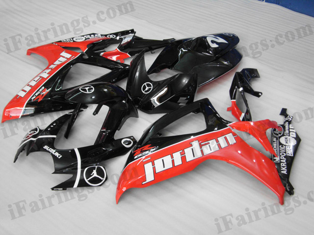 2006 2007 GSXR600/750 jordan replica fairings, GSXR600/750 2006 2007 replacement bodywork.