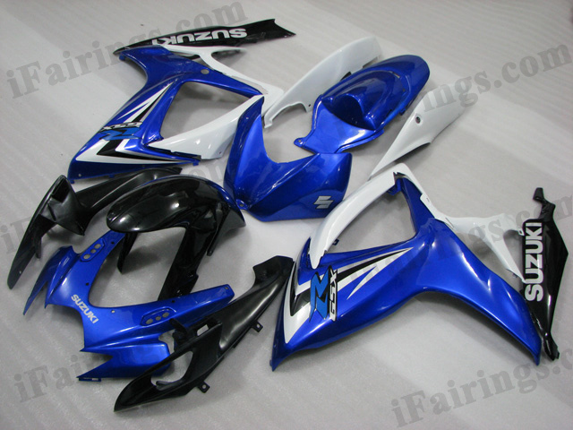 2006 2007 Suzuki GSXR600/750 blue, white and black fairings.