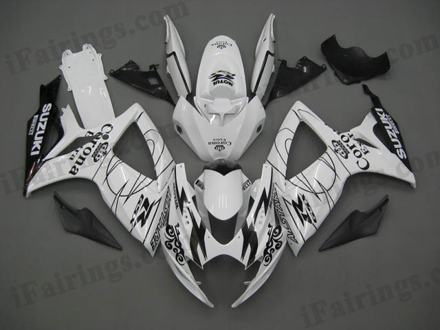 2006 2007 GSXR600/750 white Corona Extra replica fairings.