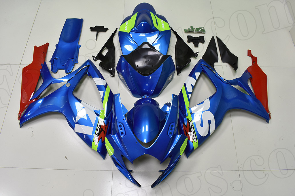 2006 2007 Suzuki GSX-R600, GSX-R750 OEM graphic fairings.