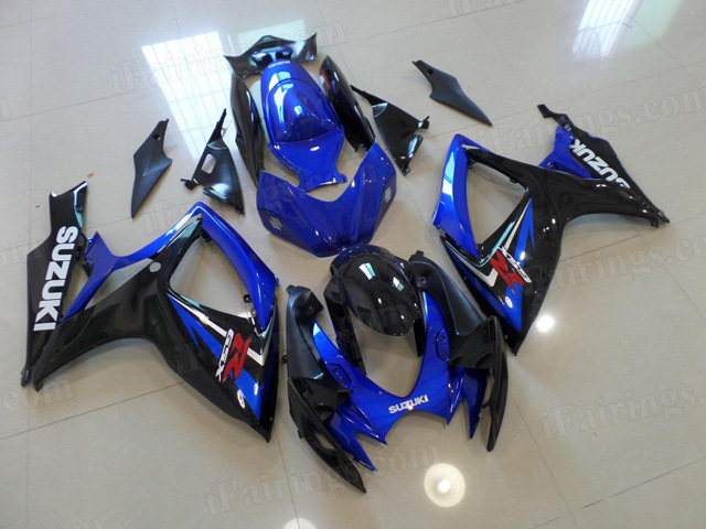 2006 2007 Suzuki GSXR600, GSXR750 blue and black fairing kits.