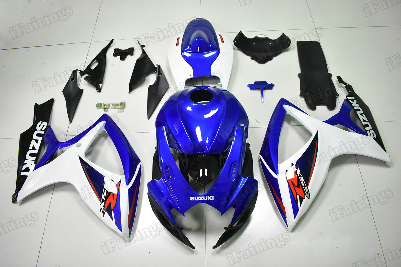 2006 2007 GSXR600/750 blue/white/black factory color matched fairing.
