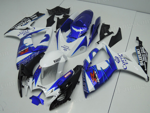 2006 2007 GSXR600/750 blue/white Corona Extra scheme fairings.