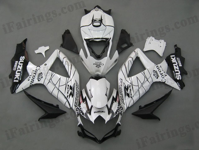 Gixxer fairings for 2008 2009 2010 GSXR600/750 white Corona Extra.