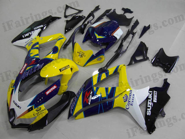 Gixxer fairings for 2008 2009 2010 GSXR600/750 Corona Extra scheme