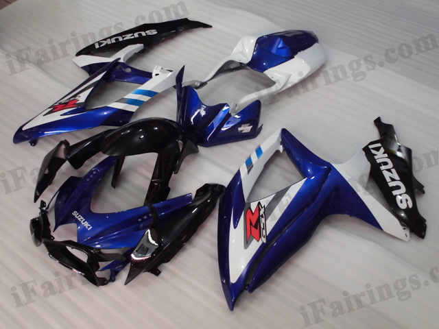 Gixxer fairings for 2008 2009 2010 GSXR600/750 blue/ white scheme.