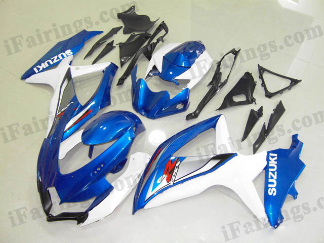 Gixxer fairings for 2008 2009 2010 GSXR600/750 blue and white scheme.