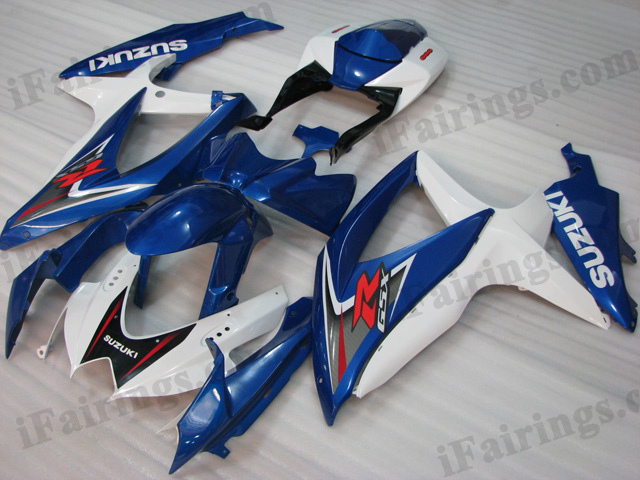 2008 2009 2010 Suzuki GSXR600/750 blue and white factory scheme fairings.
