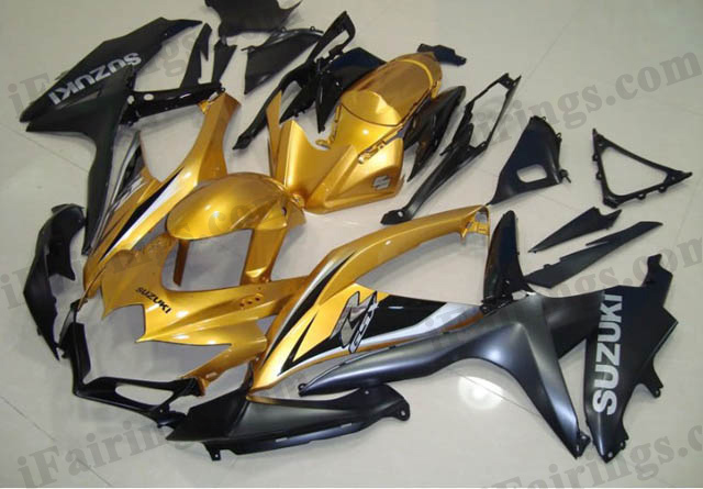 gixxer 2008 2009 2010 GSXR600/750 gold and black fairings