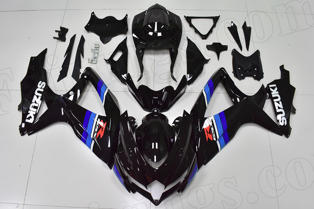 2008 2009 2010 Suzuki GSXR600, GSXR750 black fairings.