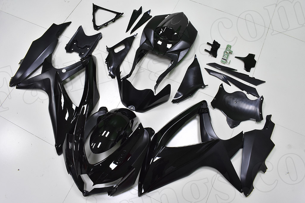 2008 2009 2010 Suzuki GSXR600, GSXR750 black fairing set.