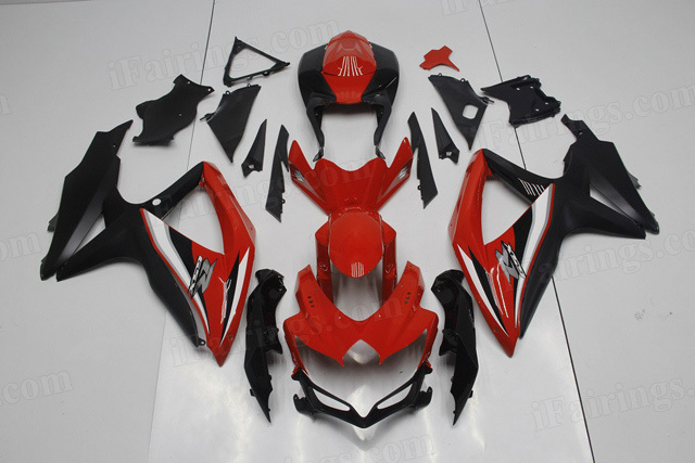 2008 2009 2010 Suzuki GSXR600, GSXR750 red and black fairings.