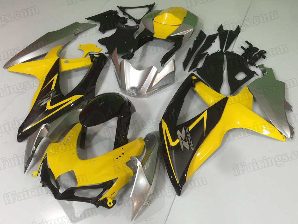 2008 2009 2010 Suzuki GSXR600, GSXR750 yellow and black fairings.