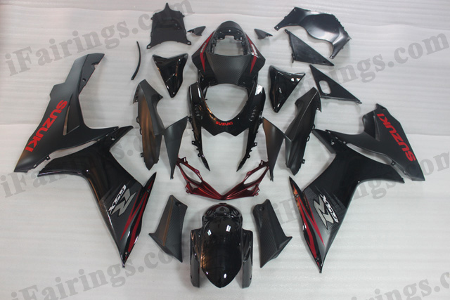 2011 2012 2013 2014 Suzuki GSXR600/750 black fairings.