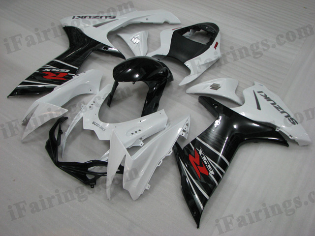 2011 2012 2013 2014 GSXR600/750 white and black replacement fairing
