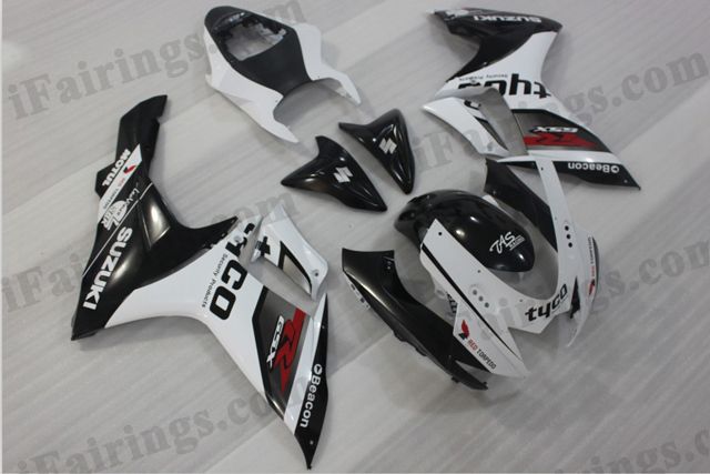 2011 2012 2013 2014 GSXR600/750 white and black replacement fairings