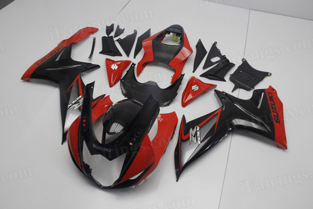 2011 2012 2013 2014 Suzuki GSXR600, GSXR750 red and black fairing kits.