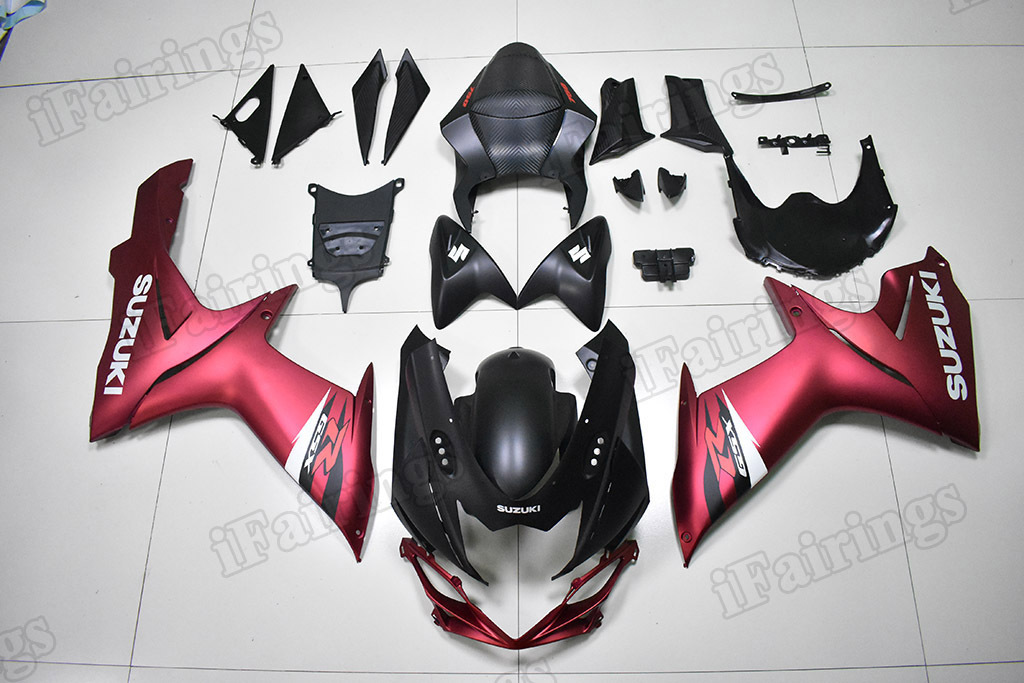 2011 to 2018 Suzuki GSX-R600/750 matte pink and matte black fairings.