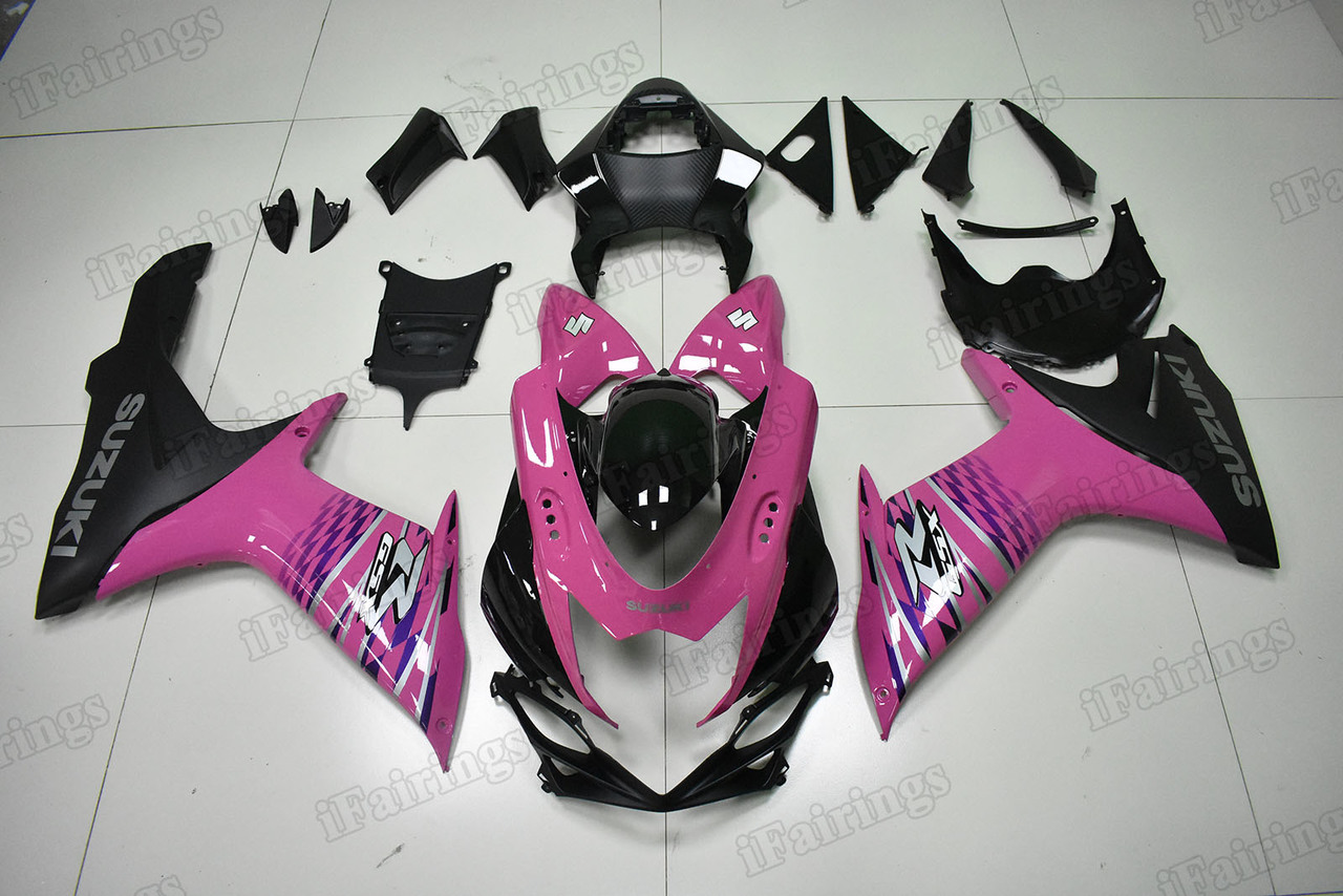2011 to 2018 Suzuki GSX-R600/750 pink and black fairings.