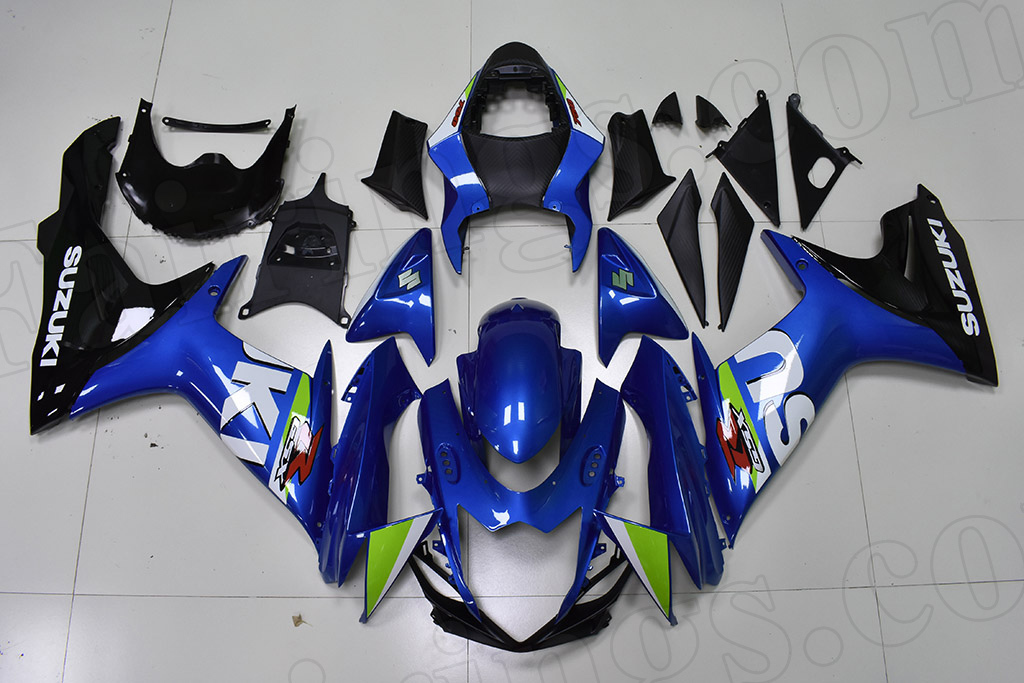 2011 to 2018 Suzuki GSX-R600/750 OEM scheme blue and black fairings.