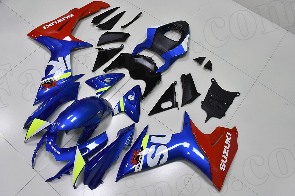 2011 to 2018 Suzuki GSX-R600/750 OEM scheme blue and red fairings.