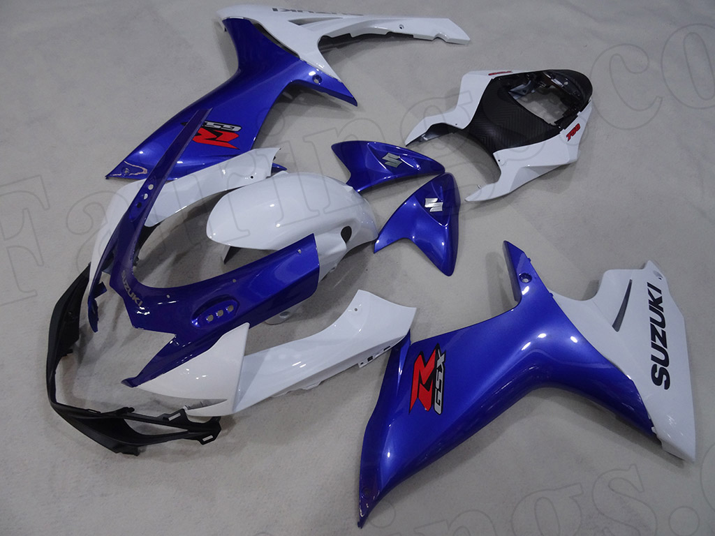 2011 to 2018 Suzuki GSX-R600/750 OEM paint blue and white fairings.