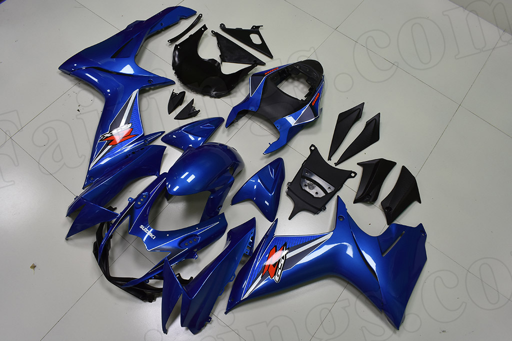 2011 to 2018 Suzuki GSX-R600/750 blue fairings.