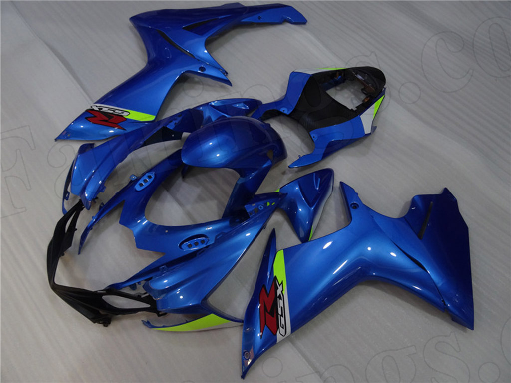 2011 to 2018 Suzuki GSX-R600/750 blue fairing kit.