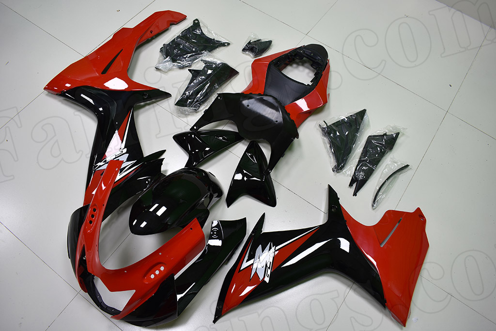2011 to 2018 Suzuki GSX-R600/750 red and black fairing.