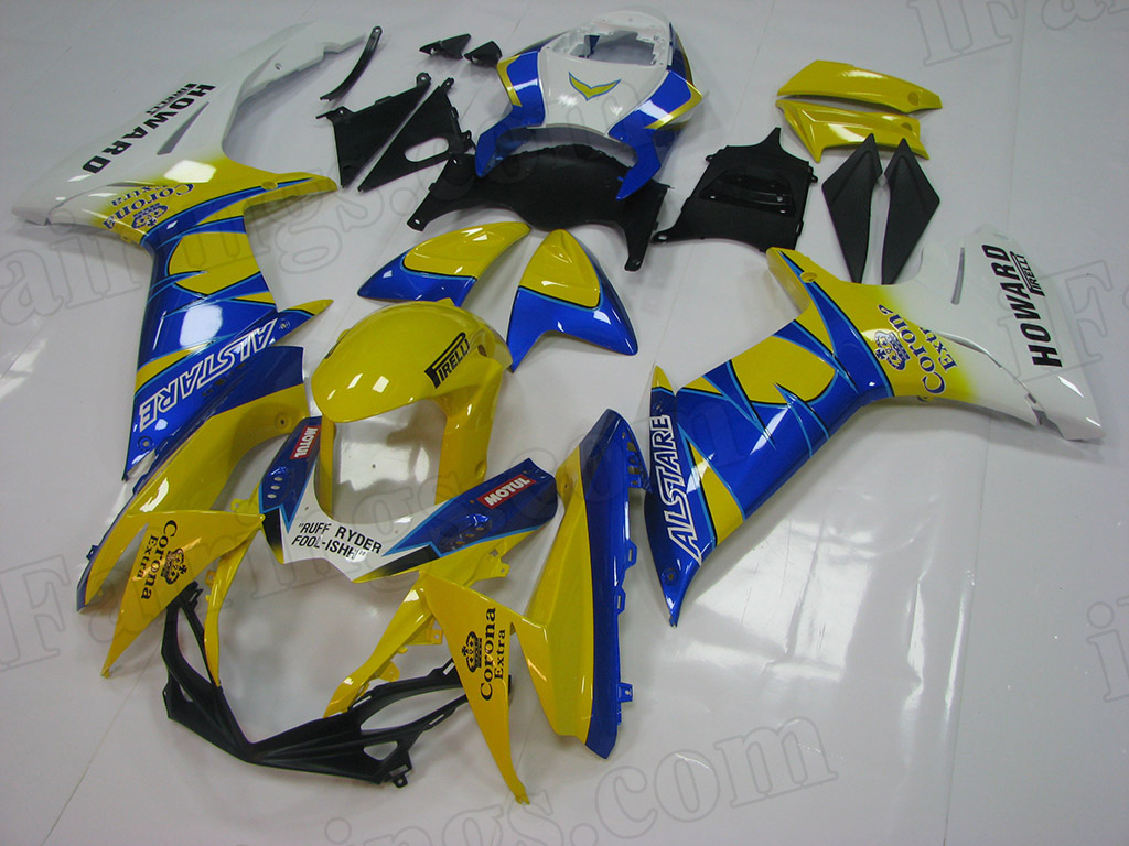 2011 to 2018 Suzuki GSX-R600/750 corona scheme fairings.