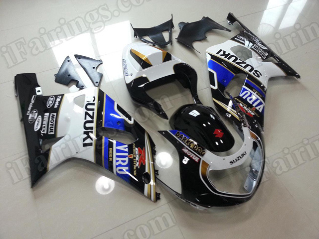 Motorcycle fairings/bodywork for 2001 2002 2003 Suzuki GSX R 600/750 VIRU replica.