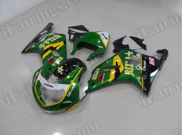 Motorcycle fairings/bodywork for 2001 2002 2003 Suzuki GSX R 600/750 green Rizla.