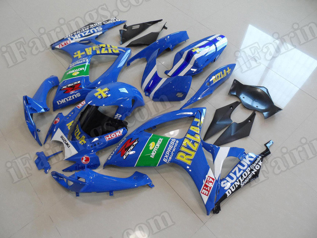 Motorcycle fairings/body kits for 2006 2007 Suzuki GSX R 600/750 Rizla replica.
