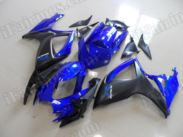Motorcycle fairings/bodywork for 2006 2007 Suzuki GSX R 600/750 blue and black.