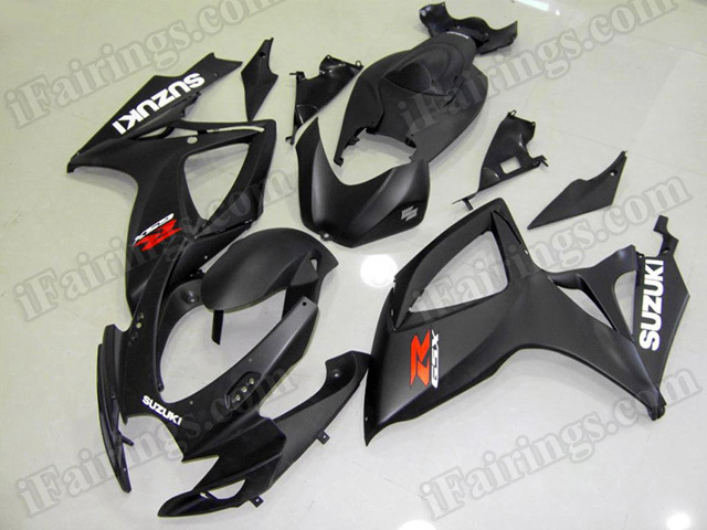 Motorcycle fairings/body kits for 2006 2007 Suzuki GSX R 600/750 matte black.