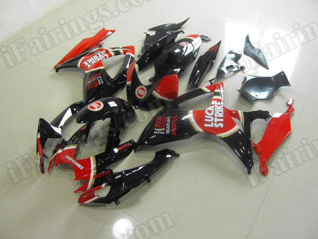 Motorcycle fairings/body kits for 2006 2007 Suzuki GSX R 600/750 lucky strike replica.