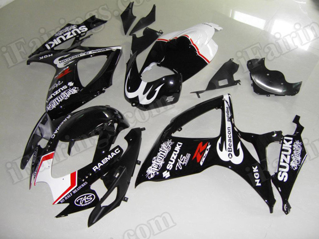 Motorcycle fairings/body kits for 2006 2007 Suzuki GSX R 600/750 relentless replica.