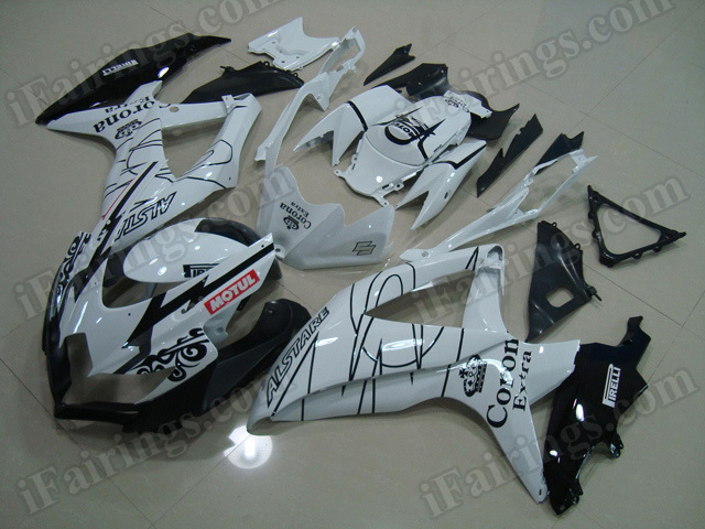 Motorcycle fairings for 2008 2009 2010 Suzuki GSX R 600/750 Corona Extra replica.