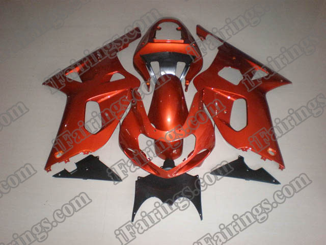 Replacement fairings for 2001 2002 2003 GSXR600/750 orange scheme.
