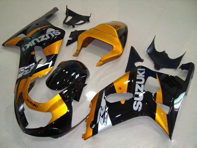 gixxer 2001 2002 2003 GSXR600/750 gold and black fairings